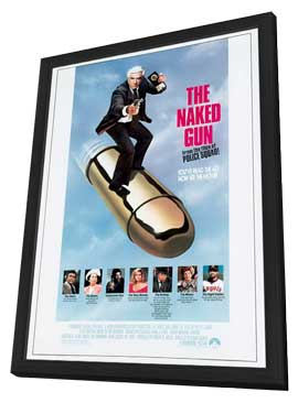 The Naked Gun - 27 x 40 Movie Poster - Style A - in Deluxe Wood Frame