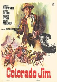 The Naked Spur - 27 x 40 Movie Poster - Spanish Style A