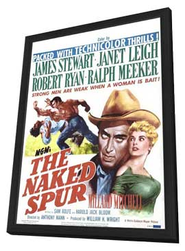 The Naked Spur - 11 x 17 Movie Poster - Style B - in Deluxe Wood Frame