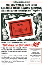 Name of the Game Is Kill - 11 x 17 Movie Poster - Style B