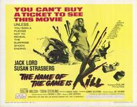 Name of the Game Is Kill - 11 x 14 Movie Poster - Style A