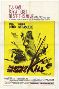 Name of the Game Is Kill - 27 x 40 Movie Poster - Style A