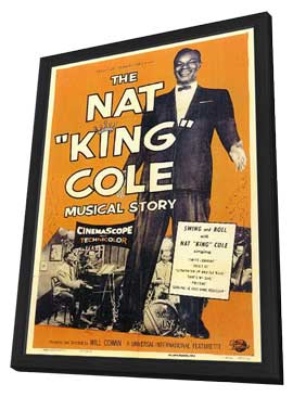 The Nat King Cole Musical Story - 11 x 17 Movie Poster - Style A - in Deluxe Wood Frame