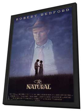 The Natural - 27 x 40 Movie Poster - Style B - in Deluxe Wood Frame