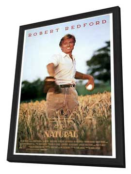 The Natural - 27 x 40 Movie Poster - Style A - in Deluxe Wood Frame