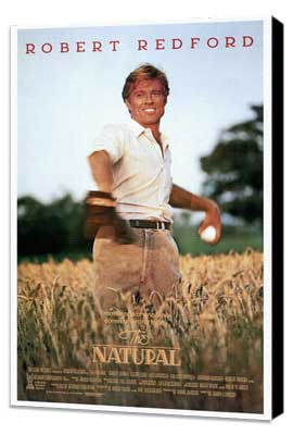 The Natural - 11 x 17 Movie Poster - Style A - Museum Wrapped Canvas