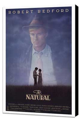 The Natural - 27 x 40 Movie Poster - Style B - Museum Wrapped Canvas