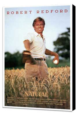 The Natural - 27 x 40 Movie Poster - Style A - Museum Wrapped Canvas
