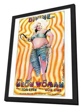 The Neon Woman - 27 x 40 Movie Poster - Style A - in Deluxe Wood Frame
