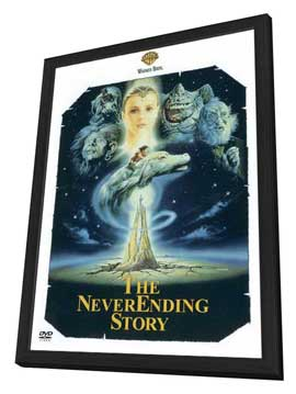 The NeverEnding Story - 27 x 40 Movie Poster - Style B - in Deluxe Wood Frame