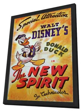 The New Spirit - 11 x 17 Movie Poster - Style A - in Deluxe Wood Frame