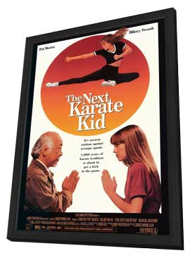 The Next Karate Kid - 11 x 17 Movie Poster - Style A - in Deluxe Wood Frame