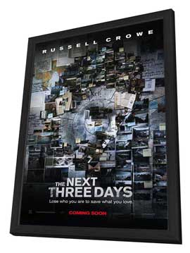 The Next Three Days - 27 x 40 Movie Poster - Style A - in Deluxe Wood Frame