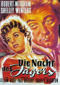 The Night of the Hunter - 27 x 40 Movie Poster - German Style A