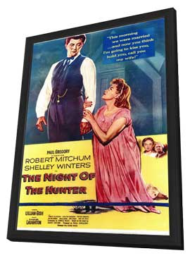 The Night of the Hunter - 11 x 17 Movie Poster - Style A - in Deluxe Wood Frame