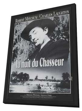 The Night of the Hunter - 27 x 40 Movie Poster - French Style A - in Deluxe Wood Frame