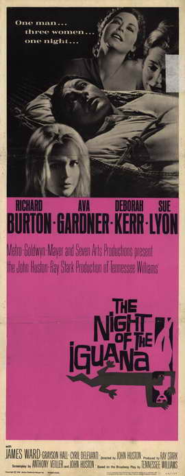 The Night of the Iguana - 14 x 36 Movie Poster - Insert Style A