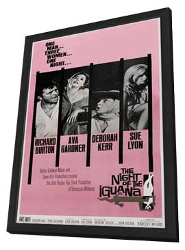 The Night of the Iguana - 11 x 17 Movie Poster - Style C - in Deluxe Wood Frame
