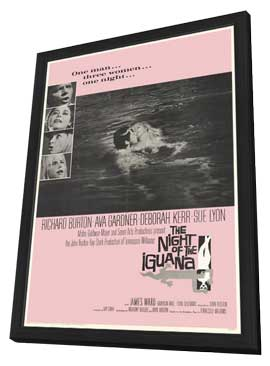 The Night of the Iguana - 27 x 40 Movie Poster - Style A - in Deluxe Wood Frame