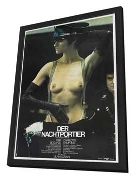 The Night Porter - 27 x 40 Movie Poster - German Style A - in Deluxe Wood Frame