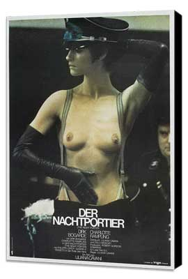 The Night Porter - 27 x 40 Movie Poster - German Style A - Museum Wrapped Canvas