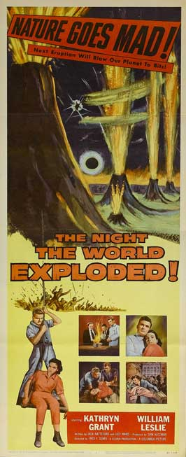 The Night the World Exploded - 14 x 36 Movie Poster - Insert Style A