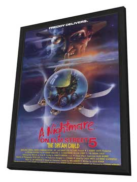 A Nightmare on Elm Street 5: The Dream Child - 11 x 17 Movie Poster - Style A - in Deluxe Wood Frame