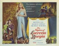 The Nights of Lucretia Borgia - 11 x 14 Movie Poster - Style A