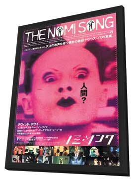 The Nomi Song - 27 x 40 Movie Poster - Japanese Style A - in Deluxe Wood Frame