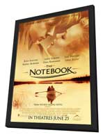 Notebook, The - 27 x 40 Movie Poster - Style L - in Deluxe Wood Frame