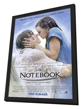 Notebook, The - 27 x 40 Movie Poster - Style A - in Deluxe Wood Frame