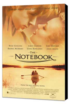 Notebook, The - 27 x 40 Movie Poster - Style B - Museum Wrapped Canvas