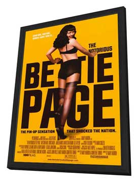 The Notorious Bettie Page - 27 x 40 Movie Poster - Style B - in Deluxe Wood Frame