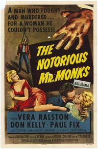 The Notorious Mr. Monks - 11 x 17 Movie Poster - Style A