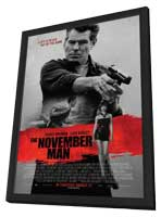 The November Man - 11 x 17 Movie Poster - Style A - in Deluxe Wood Frame