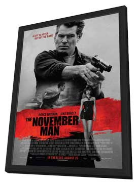The November Man - 27 x 40 Movie Poster - Style A - in Deluxe Wood Frame
