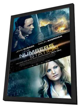 The Numbers Station - 11 x 17 Movie Poster - Style A - in Deluxe Wood Frame