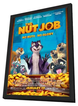The Nut Job - 11 x 17 Movie Poster - Style A - in Deluxe Wood Frame