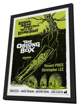 The Oblong Box - 11 x 17 Movie Poster - Style A - in Deluxe Wood Frame
