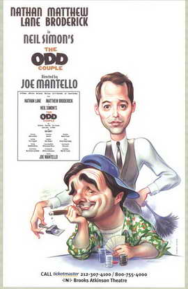 The Odd Couple (Broadway) - 11 x 17 Poster - Style A