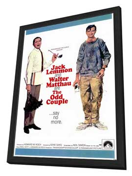 The Odd Couple - 11 x 17 Movie Poster - Style A - in Deluxe Wood Frame
