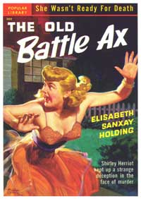 The Old Battle Ax - 11 x 17 Retro Book Cover Poster