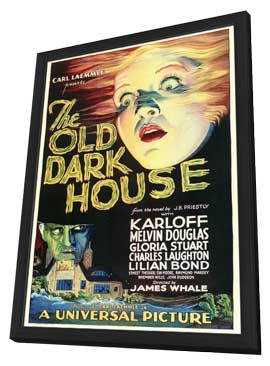 The Old Dark House - 27 x 40 Movie Poster - Style A - in Deluxe Wood Frame