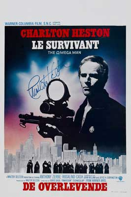 Omega Man - 11 x 17 Movie Poster - Belgian Style A