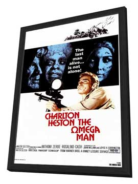 Omega Man - 27 x 40 Movie Poster - Style A - in Deluxe Wood Frame