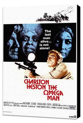 Omega Man - 27 x 40 Movie Poster - Style A - Museum Wrapped Canvas