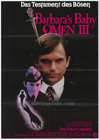 Omen 3: The Final Conflict - 27 x 40 Movie Poster - German Style A