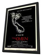 The Omen - 27 x 40 Movie Poster - Style A - in Deluxe Wood Frame
