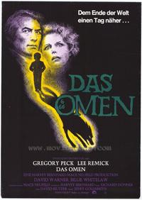 The Omen - 27 x 40 Movie Poster - German Style A