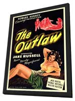 The Outlaw - 11 x 17 Movie Poster - Style A - in Deluxe Wood Frame